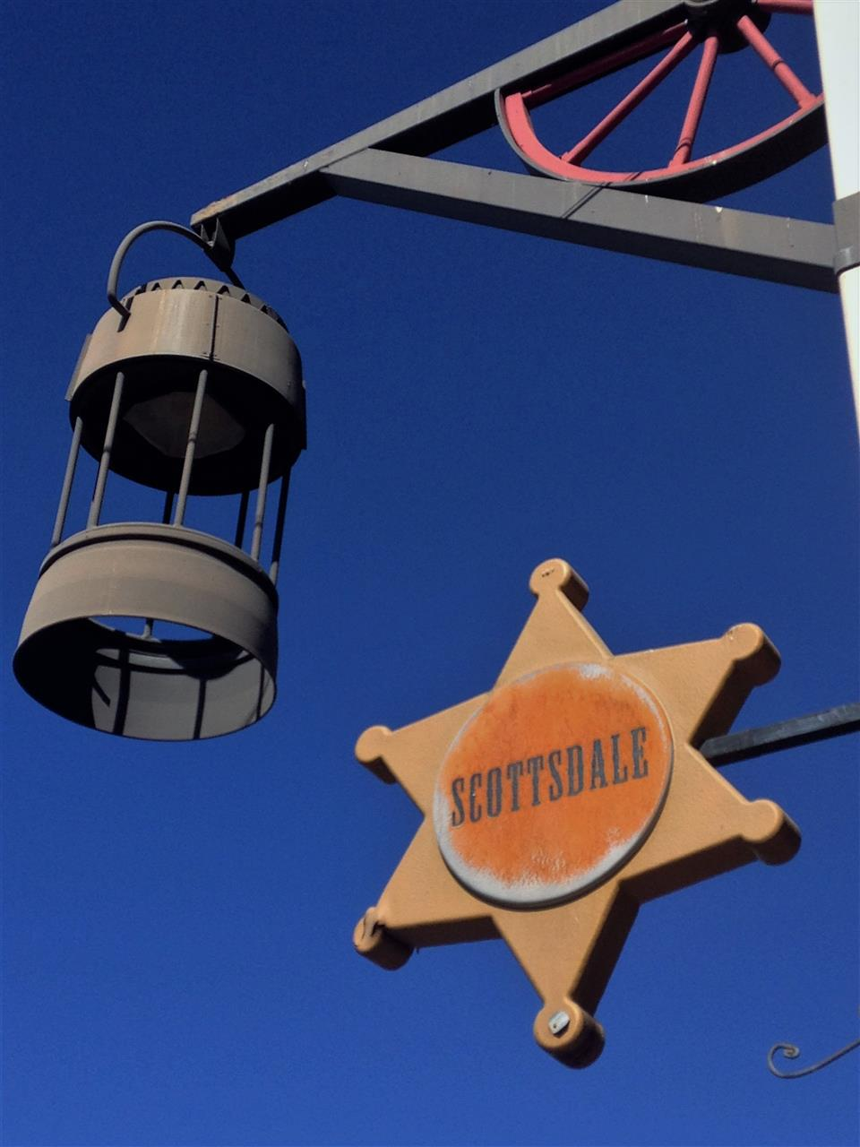 The blue skies of Scottsdale, AZ