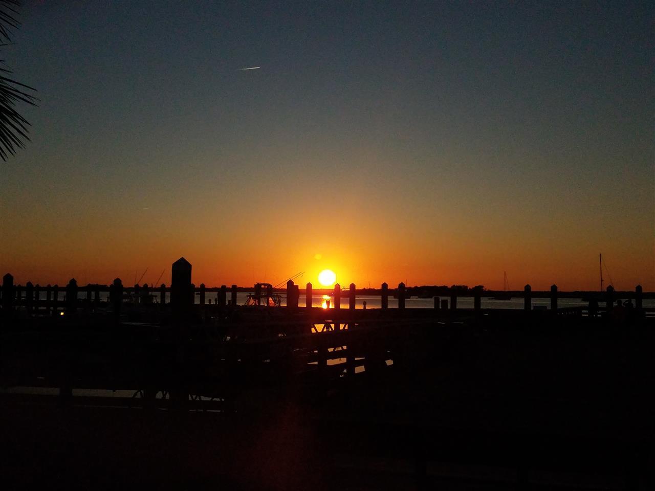Beautiful sunset at the marina in downtown Fernandina Beach, FL