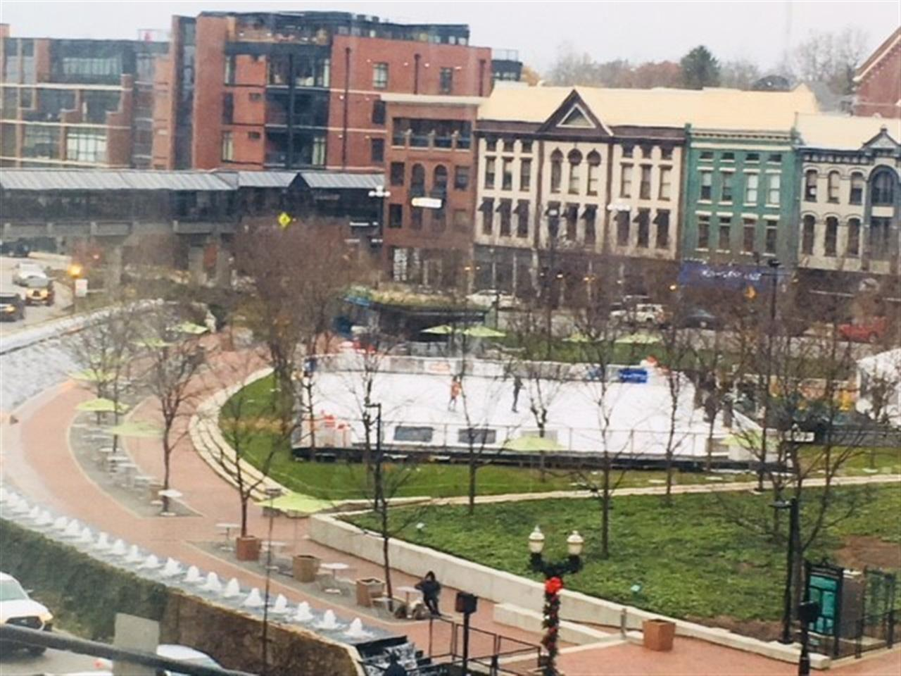 Triangle Park ice skating in Downtown Lexington, KY