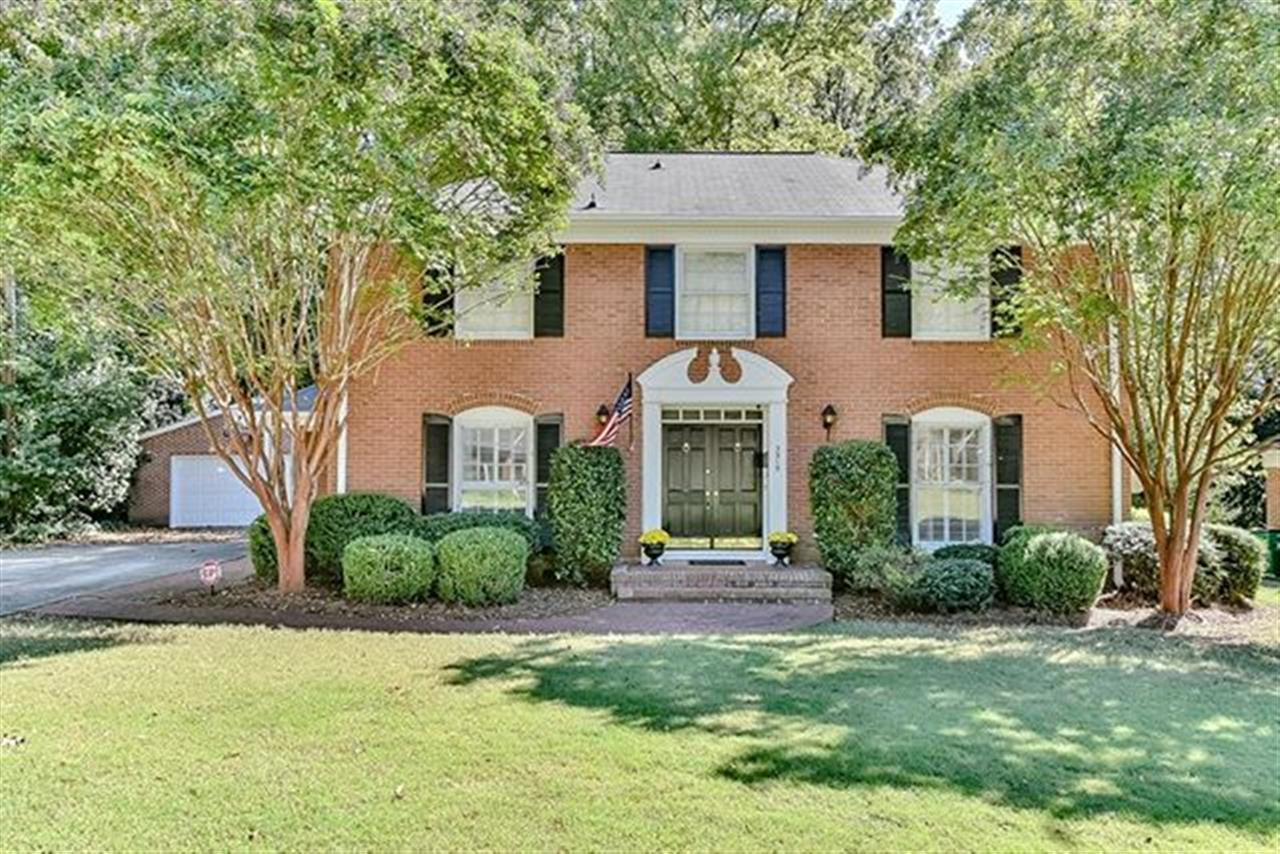 New price on this one of a kind 2 story traditional brick Beverly Woods home. Contact @heathermackey.cltrealtor for more details. #dickensmitchener #clt #realestate #leadingre #homeforsale