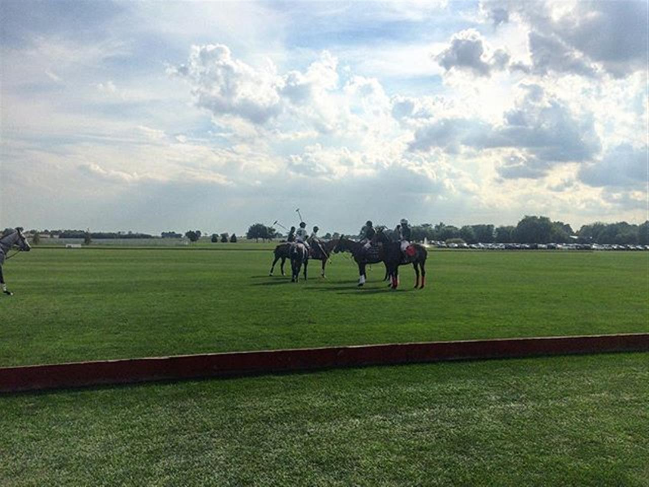 Huddle before the match. #chicago #leadingrelocal #pologrounds #westernsuburbs #polo #realestate #bairdwarner