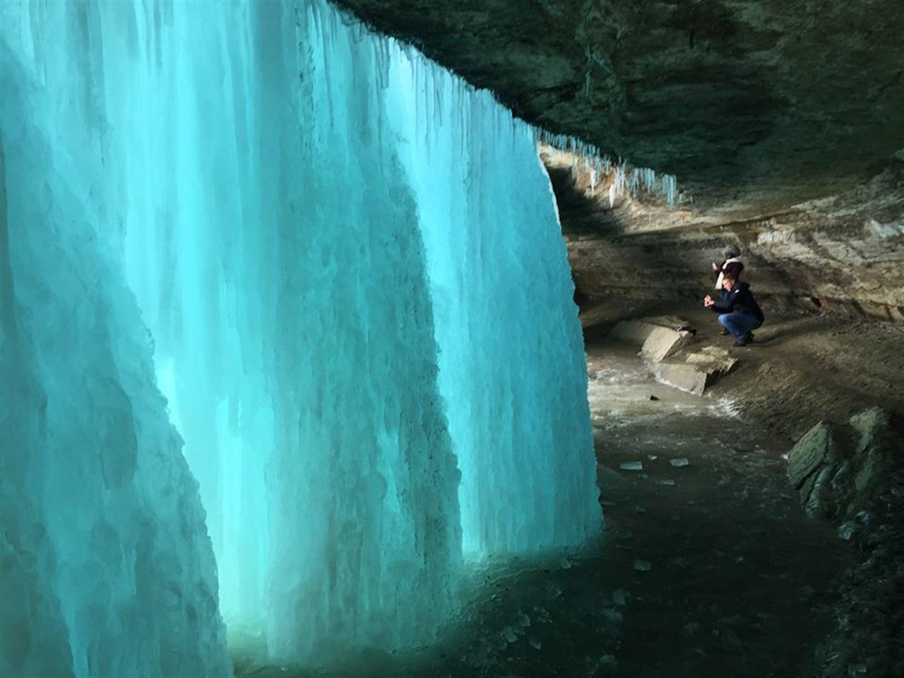 Behind the frozen waterfall - it's simply magical #Minnehaha #Minneapolis #LeadingRELocal #BairdWarner #Vacation