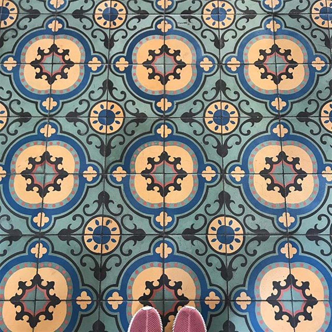 Beautiful Caribbean Style Tiles #tiles #victorian #city #dominicanrepublic #leadingrelocal #nostalgia
