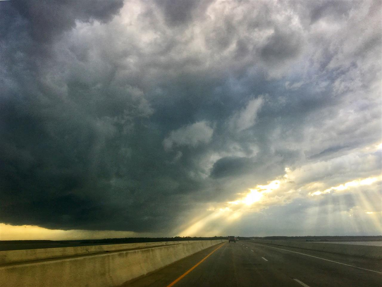 Storms brewing over the marshes in Savannah