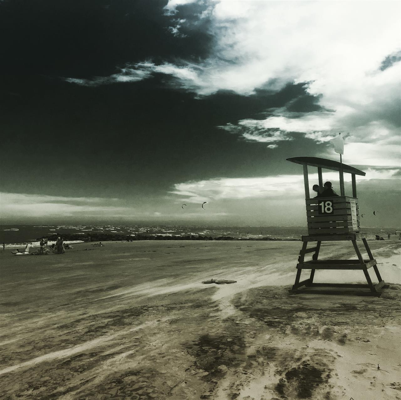 Lifeguard tower on Tybee Island