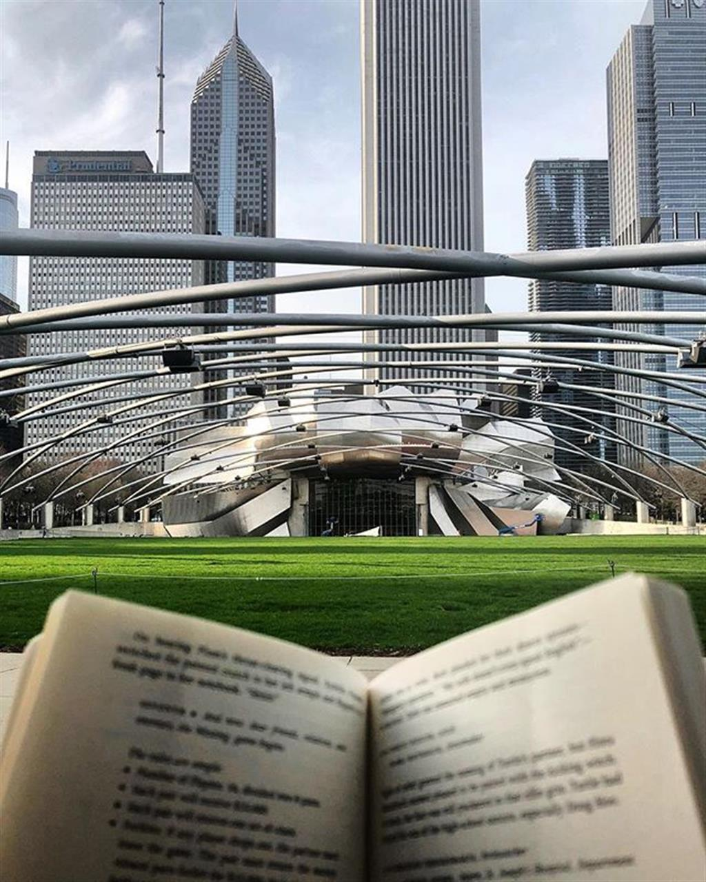 Looking for favorite spots in the city to sit and delve into a good book. This bench in the heart of @millennium_park is a perfect lunchtime getaway. .. .. #chi #chicago #milleniumpark #realestate #read #book #bookworm #leadingrelocal #lunch #bairdwarner #chicagorealestate #lakeshore #lakeshoreeast #lakeshoreeastrealestate #liveauthentic #livelocal #randolphstreet #pritzkerpavilion #thebean #cloudgate #hideaway #goodbooks